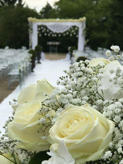 Fleurs pour la cérémonie laïque