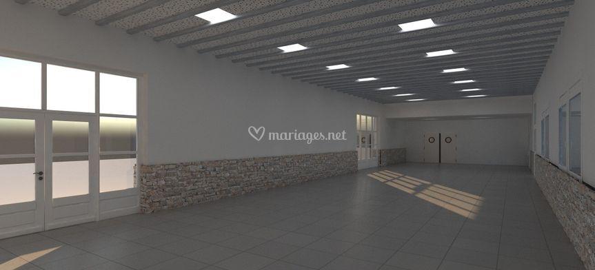 Salle de réception image 3D
