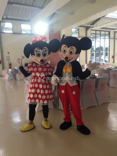 Mascotte minnie mickey
