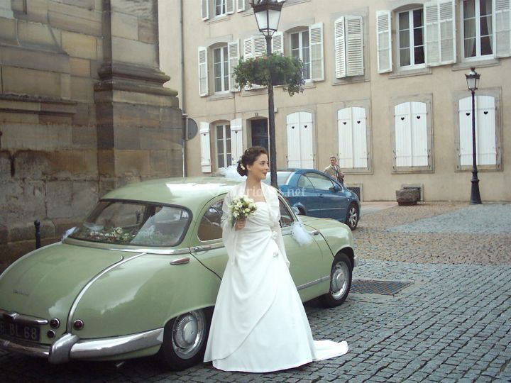 Panhard et la mariée