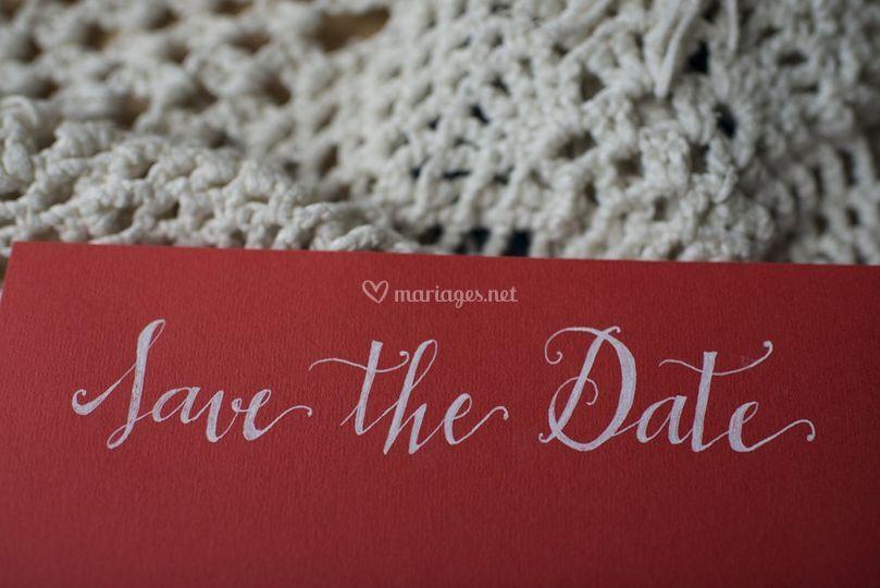 Save the date décoratif