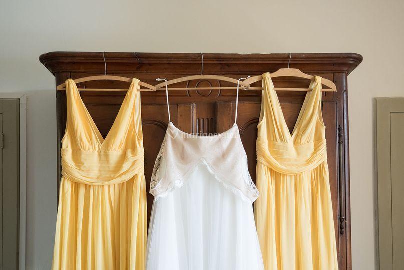 Robes mariée et témoins