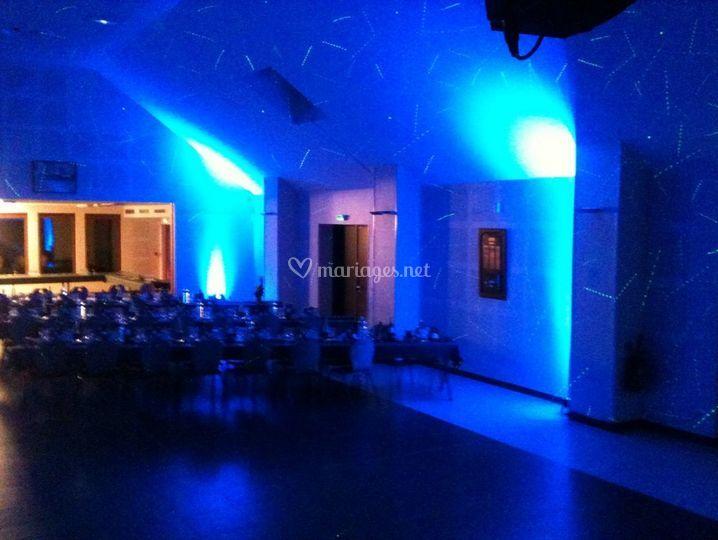Eclairage thème bleu