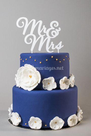 Cake topper Monsieur Madame