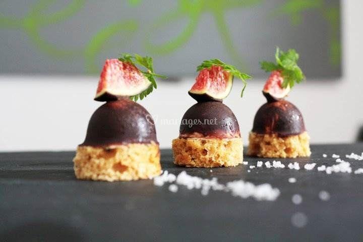 Dômes chocolat foie gras