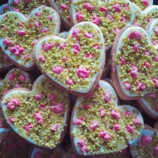 Pralines roses et pistaches