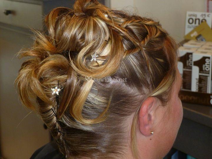 Mariée cheveux court
