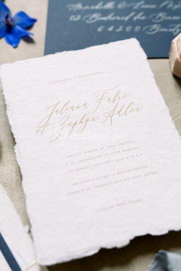 J & Z - Faire part mariage