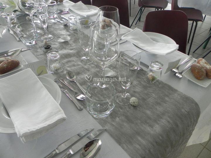 Mise en place de la table