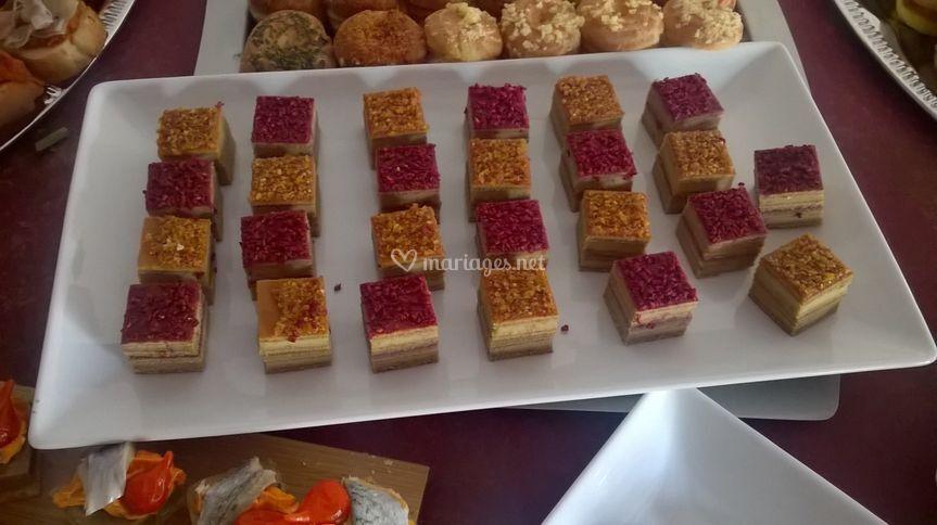 Opera au foie gras pour cocktail