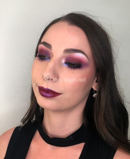 Maquillage glamour sophistiqué