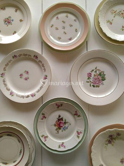 Location vaisselle vintage