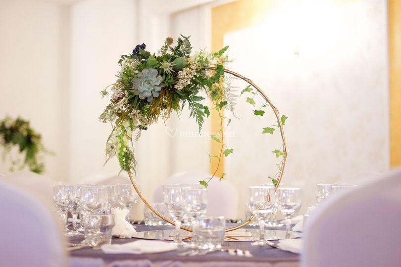 Chandelier avec décoration