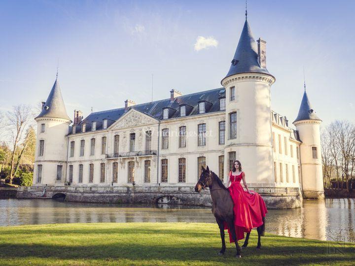 Mariée et son cheval