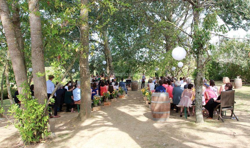 Belles cérémonies dans le parc