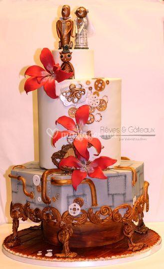 Steampunck wedding cake