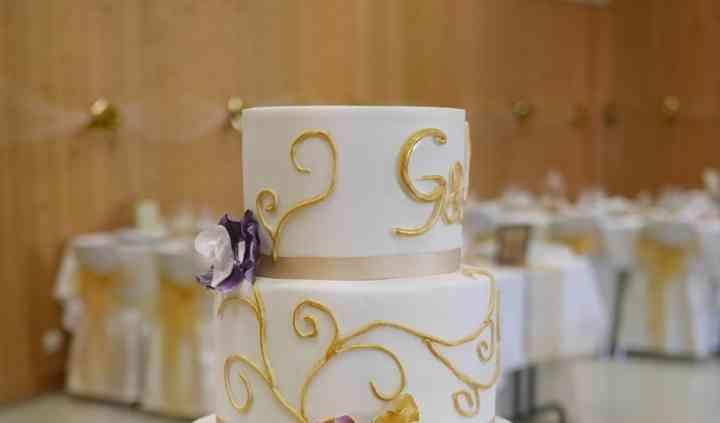 Wedding cake avec orchidées