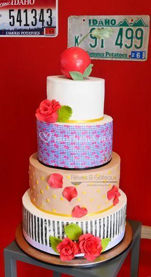 Wedding cake thème rockabilly