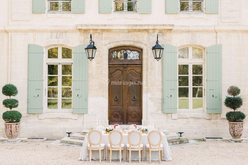 Table Mariage Chateau Tourreau