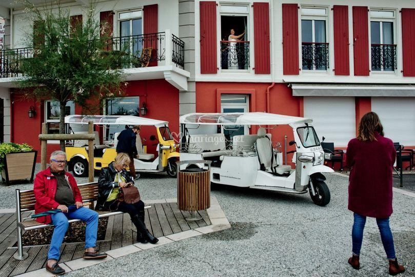 Scene de rue à St jean de Luz