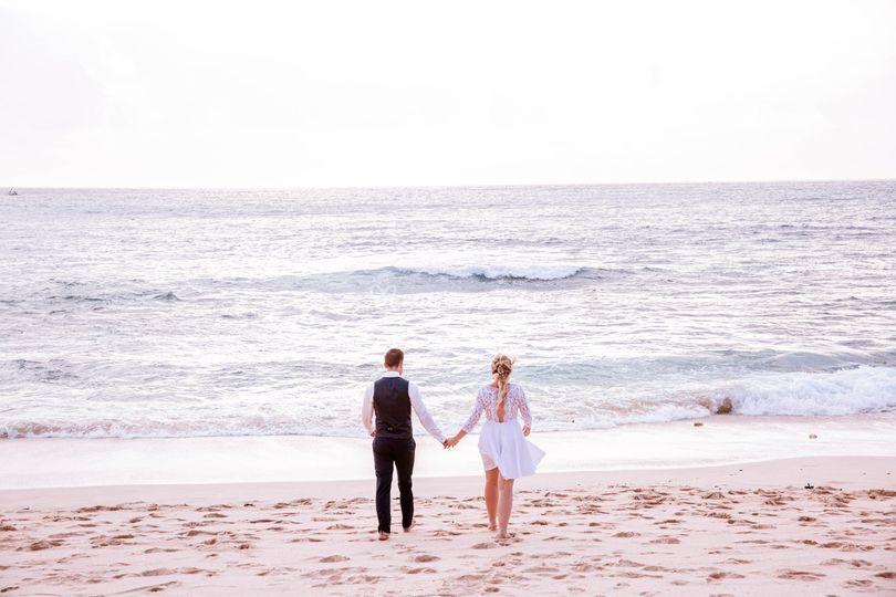 Mariage sur la plage à Bali