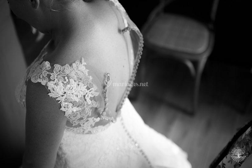 Photo préparatifs mariage NB