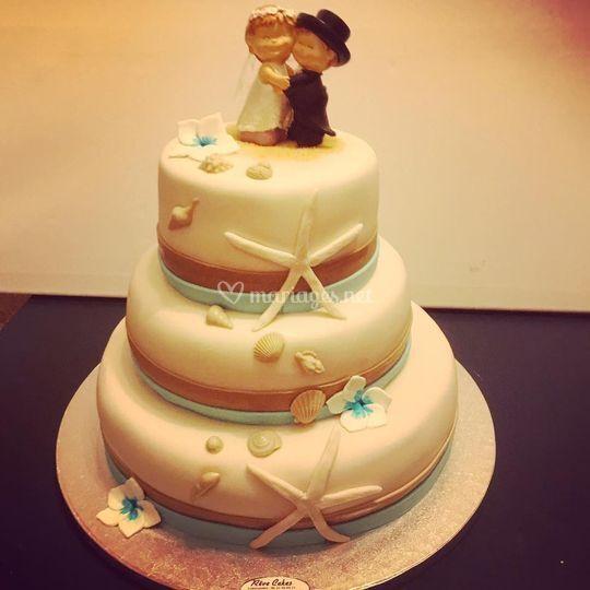 Plage Mariage Cake