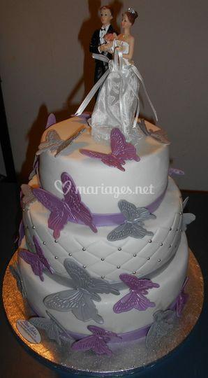 Papillons Mariage Cake