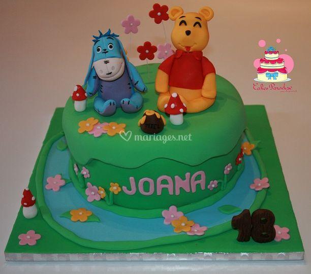 Gâteau Winnie et Bourriquet