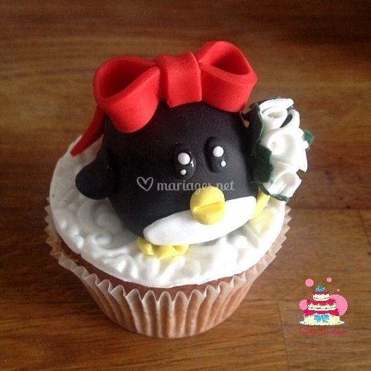 Cupcakes Pingouinette mariage