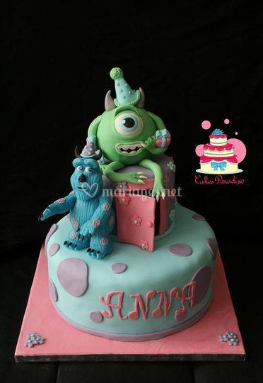 Gâteau Monstres et Cie