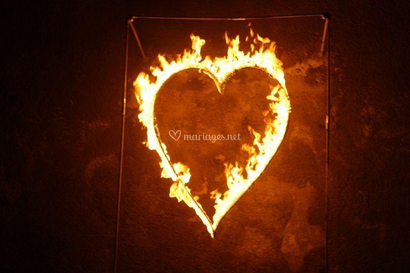 Spectacle de feu pour mariage