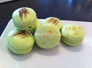 Macarons poire chocolat