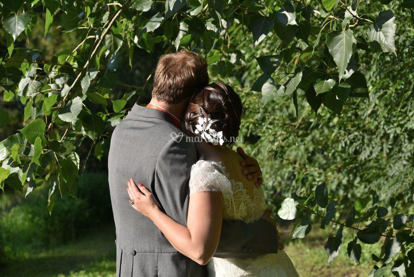 Le parc et nos mariés