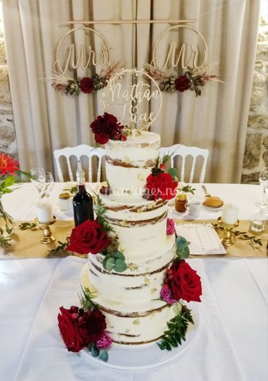 Nacked cake champêtre