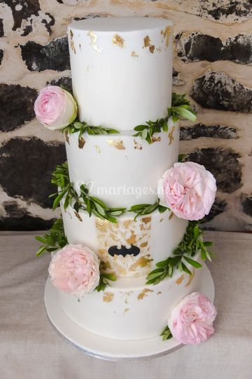 Wedding cake romantique