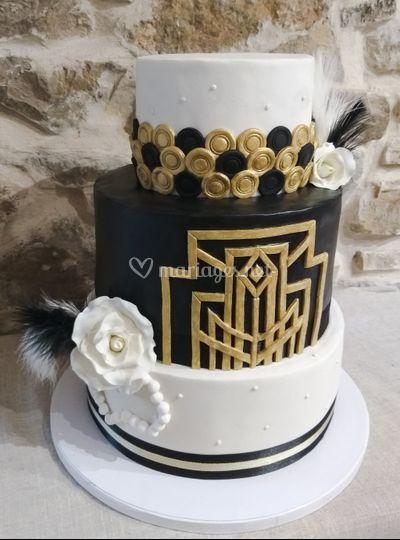Wedding cake année folle