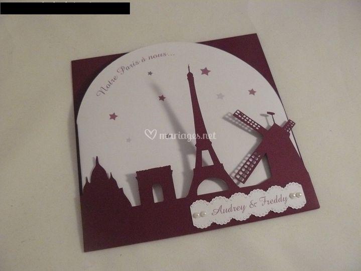 Faire-part pochette Paris