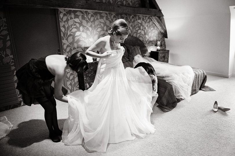 Photo mariage habillage