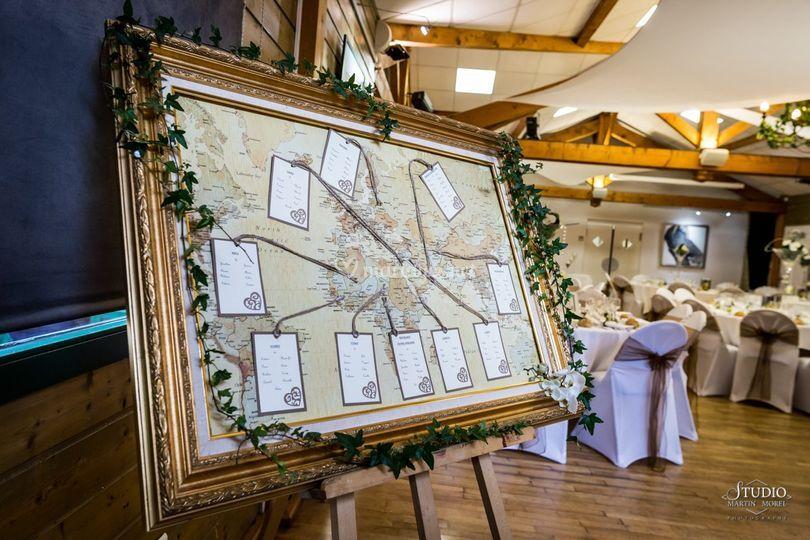Plan table carte monde