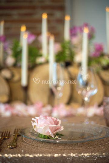 Détail décoration table