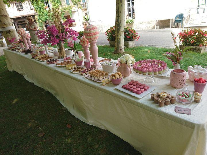 Sweet Table en plein air