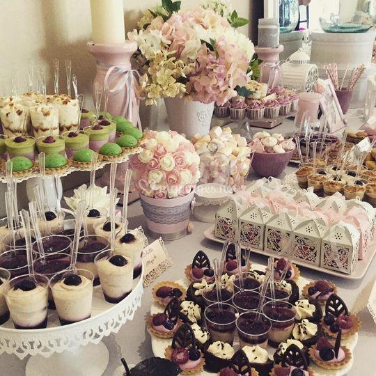 Sweet table en detail