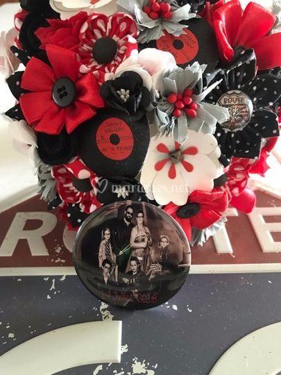Badge bouquet