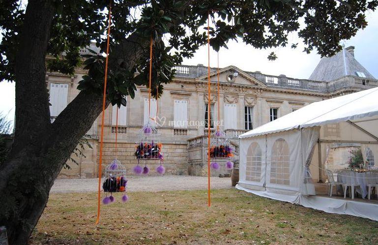 Réception dans le parc du Chateau