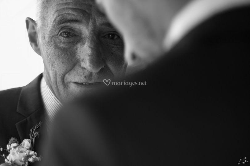 Emotion du père du marié
