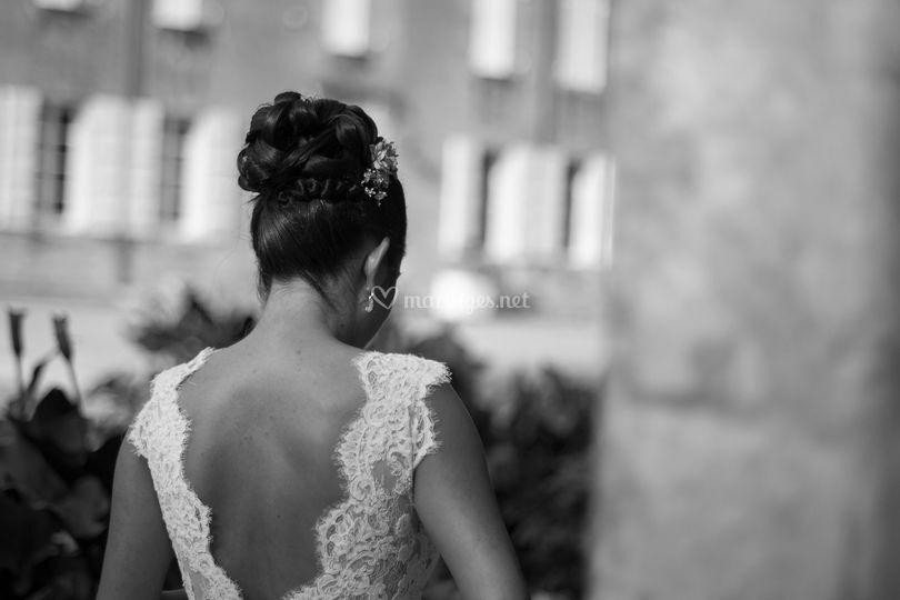La mariée de dos