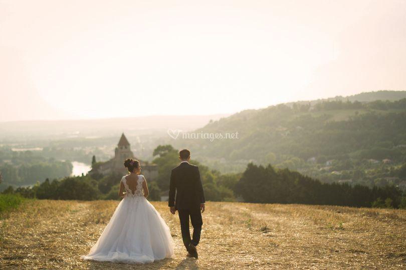 Séance photo après le mariage