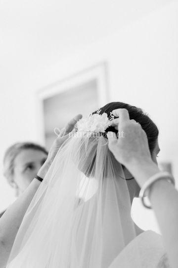 Voile et peigne mariée