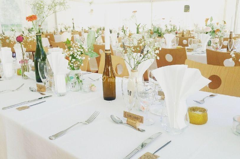Dressage de table champêtre